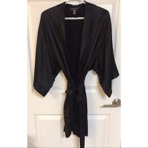 Victoria's Secret black satin robe